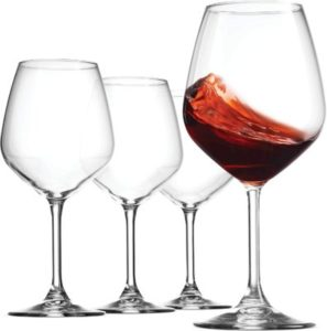 Bormiolli Rocco Crystal Clear Red Wine Glasses
