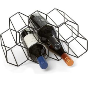 HB Design 9 Bottle Countertop Wine Rack