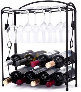 Howdia TableTop Wine Rack with Glass Holder