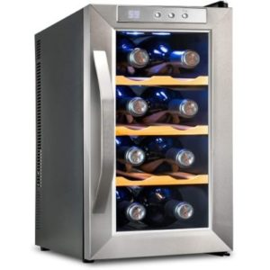 Ivation Premium Stainless Steel 8 Bottle Thermoelectric Wine Cooler