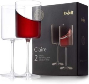JoyJolt Claire Collection Red Wine Glasses