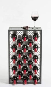 Mango Steam 23 Bottle Wine Rack with Glass TableTop