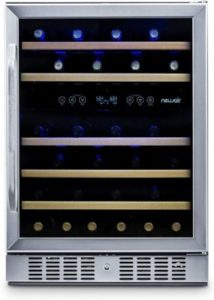NewAir AWR-460DB Built-In Wine Cooler And Refrigerator