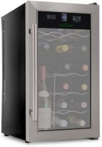 NutriChef 24-Bottle Dual Zone Thermoelectric Wine Chiller