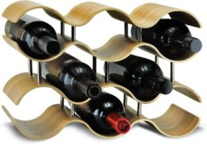 Sevvia Wavy Willow 10-bottle Wooden Wine Rack